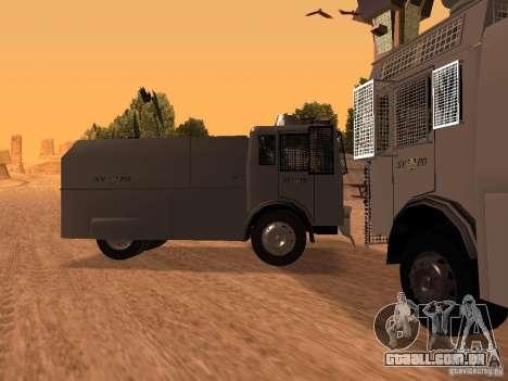 Um canhão de água polícia Rosenbauer para GTA San Andreas esquerda vista