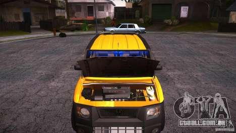 Honda Element LX para GTA San Andreas vista interior