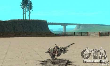 MoskiT para GTA San Andreas traseira esquerda vista
