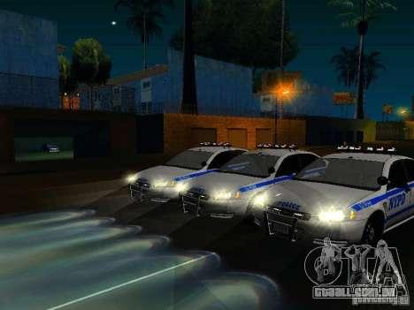 Chevrolet Impala NYPD para GTA San Andreas interior