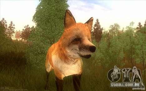 Wild Life Mod 0.1b para GTA San Andreas por diante tela