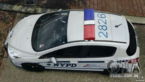 Peugeot 308 GTi 2011 Police v1.1 para GTA 4 vista direita