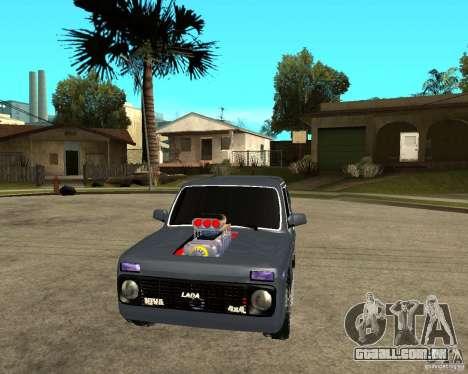 NIVA Mustang para GTA San Andreas vista traseira