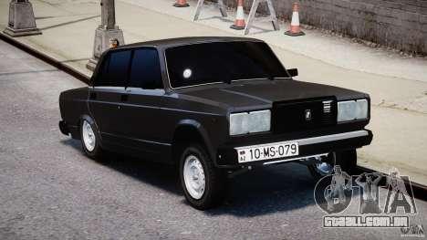 Vaz-2107 Avtosh estilo para GTA 4 vista direita
