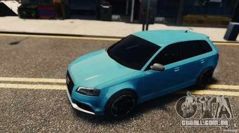Audi RS3 Sportback V1.0 para GTA 4 traseira esquerda vista