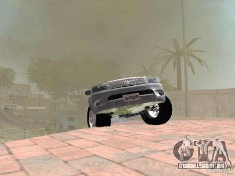 Toyota Hilux para vista lateral GTA San Andreas
