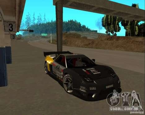 Acura NSX Sumiyaka para GTA San Andreas vista direita