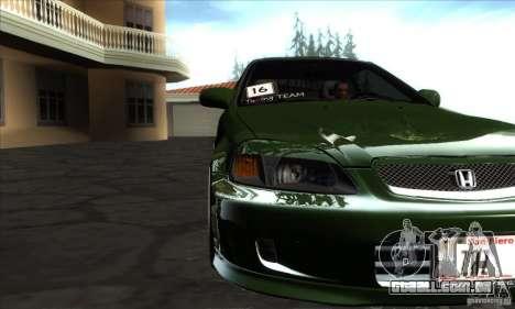 Honda Civic 1995 para GTA San Andreas vista interior