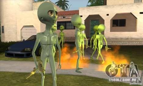 Alien para GTA San Andreas terceira tela