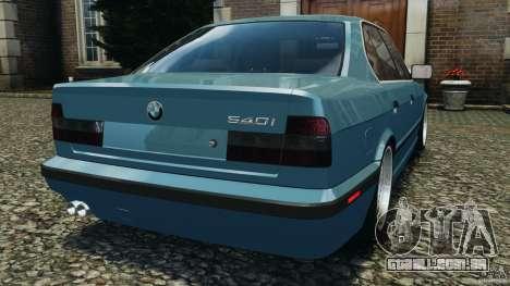 BMW E34 V8 540i para GTA 4 traseira esquerda vista