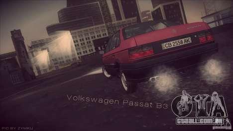 Volkswagen Passat B3 v2 para GTA San Andreas esquerda vista