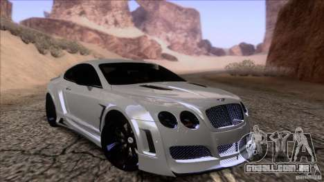 Bentley Continental GT Premier 2008 V2.0 para GTA San Andreas interior