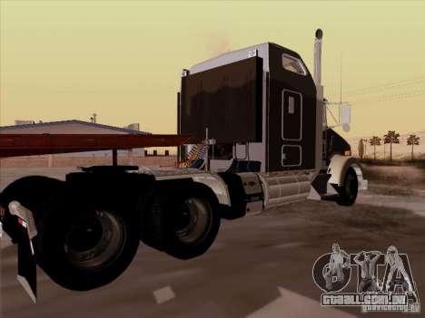 Kenworth T800 para GTA San Andreas vista direita
