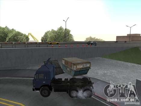 KAMAZ 54115 para GTA San Andreas traseira esquerda vista