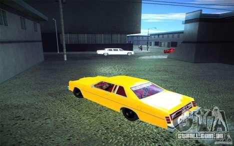 Ford LTD Coupe 1975 para GTA San Andreas vista interior