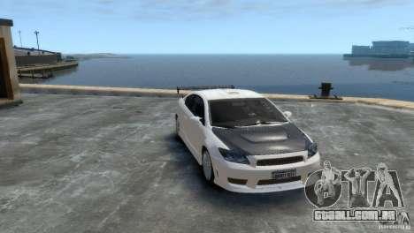 Toyota Scion para GTA 4 traseira esquerda vista