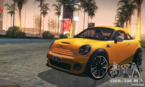 Mini Concept Coupe 2010 para vista lateral GTA San Andreas