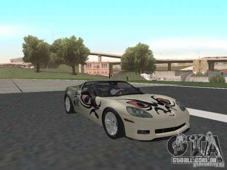 Chevrolet Corvette Z06 para GTA San Andreas vista superior