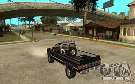 GMC Sierra 1986 FBI para GTA San Andreas traseira esquerda vista