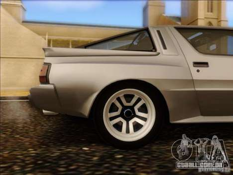 Mitsubishi Starion ESI-R 1986 para GTA San Andreas vista interior