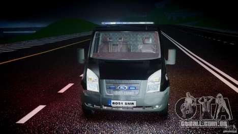 Ford Transit SWAT [ELS] para GTA 4 vista lateral