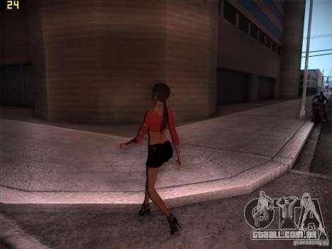 Skin Girl NFS PS para GTA San Andreas segunda tela