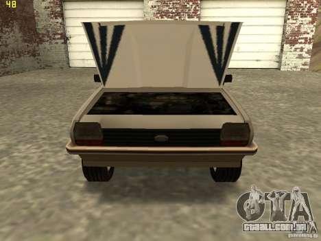 Ford Fiesta 1981 para GTA San Andreas traseira esquerda vista