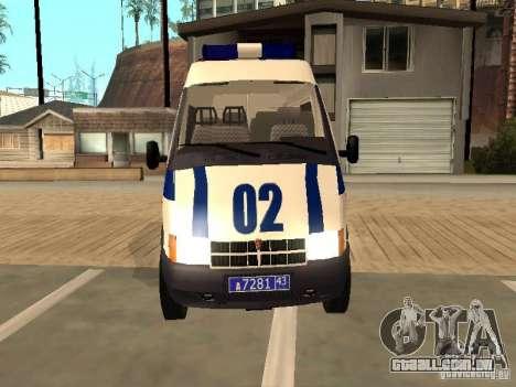 GAZ 2217 Sobol polícia para GTA San Andreas vista direita