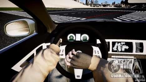Jaguar XFR 2010 para GTA 4 vista de volta