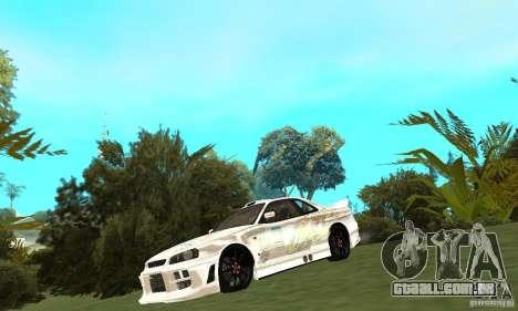 Nissan SkyLine R34 Tunable V2 para GTA San Andreas esquerda vista