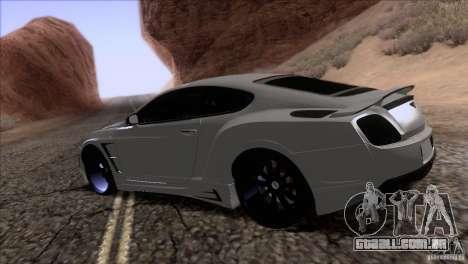 Bentley Continental GT Premier 2008 V2.0 para o motor de GTA San Andreas