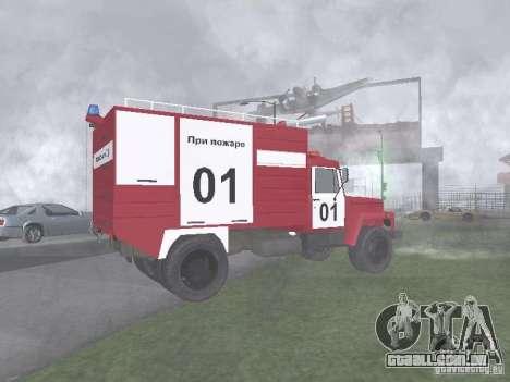 GAZ 3309 fogo para GTA San Andreas esquerda vista