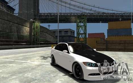 BMW 330i E60 Tuned 2 para GTA 4 vista de volta