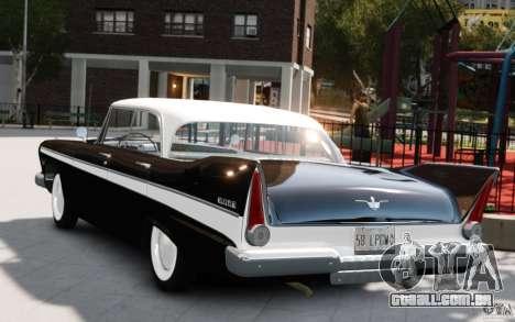 Plymouth Belvedere Sport Sedan 1957 para GTA 4 esquerda vista