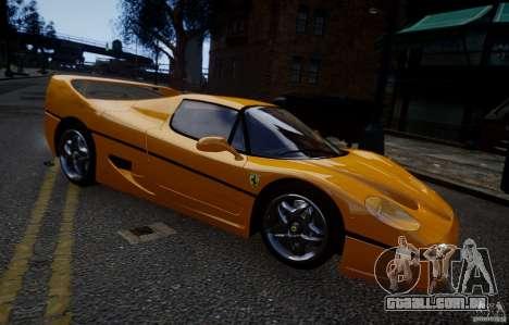 Ferrari F50 1995 para GTA 4 traseira esquerda vista