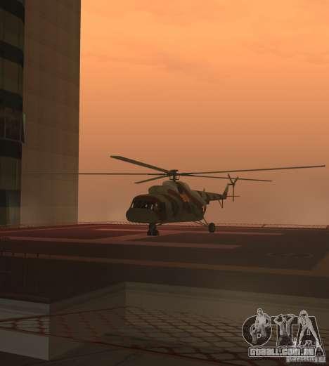 MI-17 militares para GTA San Andreas traseira esquerda vista