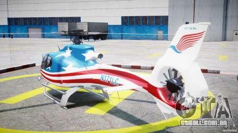 Eurocopter EC 130 B4 USA Theme para GTA 4 traseira esquerda vista