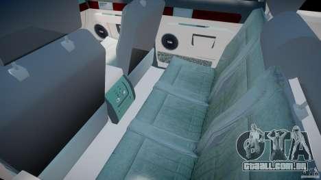 Lincoln Navigator 2004 para GTA 4 vista interior
