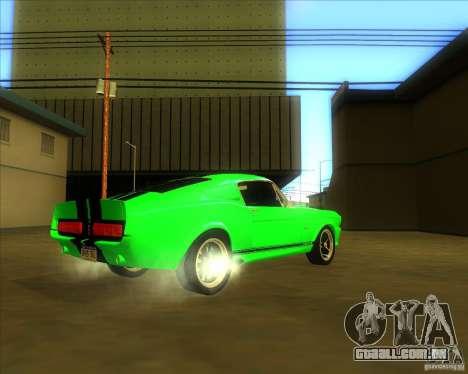 Shelby GT500 Eleanora clone para GTA San Andreas vista direita