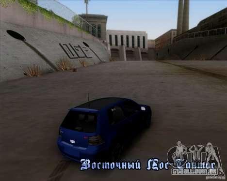 Volkswagen Golf GTi 2003 para GTA San Andreas vista superior