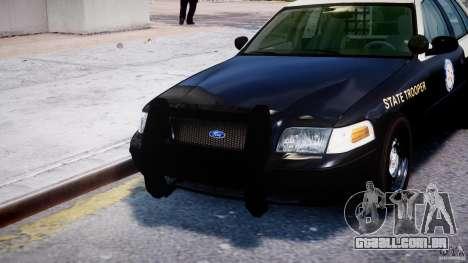 Ford Crown Victoria Fl Highway Patrol Units ELS para GTA 4 interior
