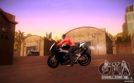 Aprilia RSV-4 Black Edition para GTA San Andreas vista traseira