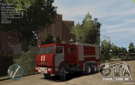 Kamaz bombeiro para GTA 4 esquerda vista