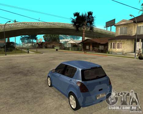 2007 Suzuki Swift para GTA San Andreas esquerda vista