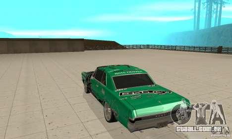 Pontiac GTO 1965 Speed King-NFS Pro Street para GTA San Andreas vista direita