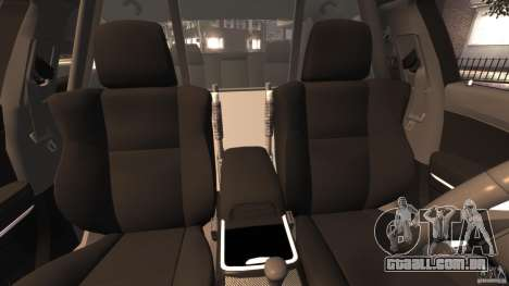 Dodge Charger RT Max Police 2011 [ELS] para GTA 4 vista interior