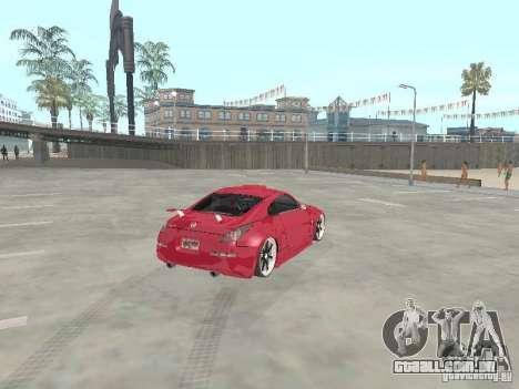 Nissan 350Z v2 para GTA San Andreas traseira esquerda vista