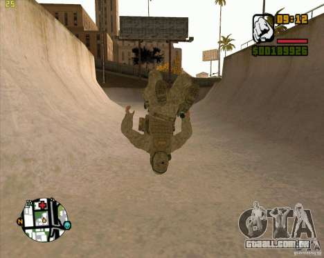 Parkour discipline beta 2 (full update by ACiD) para GTA San Andreas por diante tela