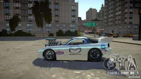 Mazda rx7 Dragster para GTA 4 esquerda vista