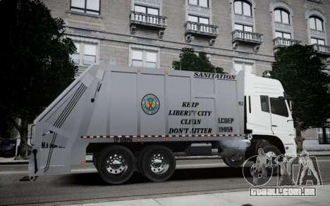 Dongfeng Denon Garbage Truck para GTA 4 esquerda vista